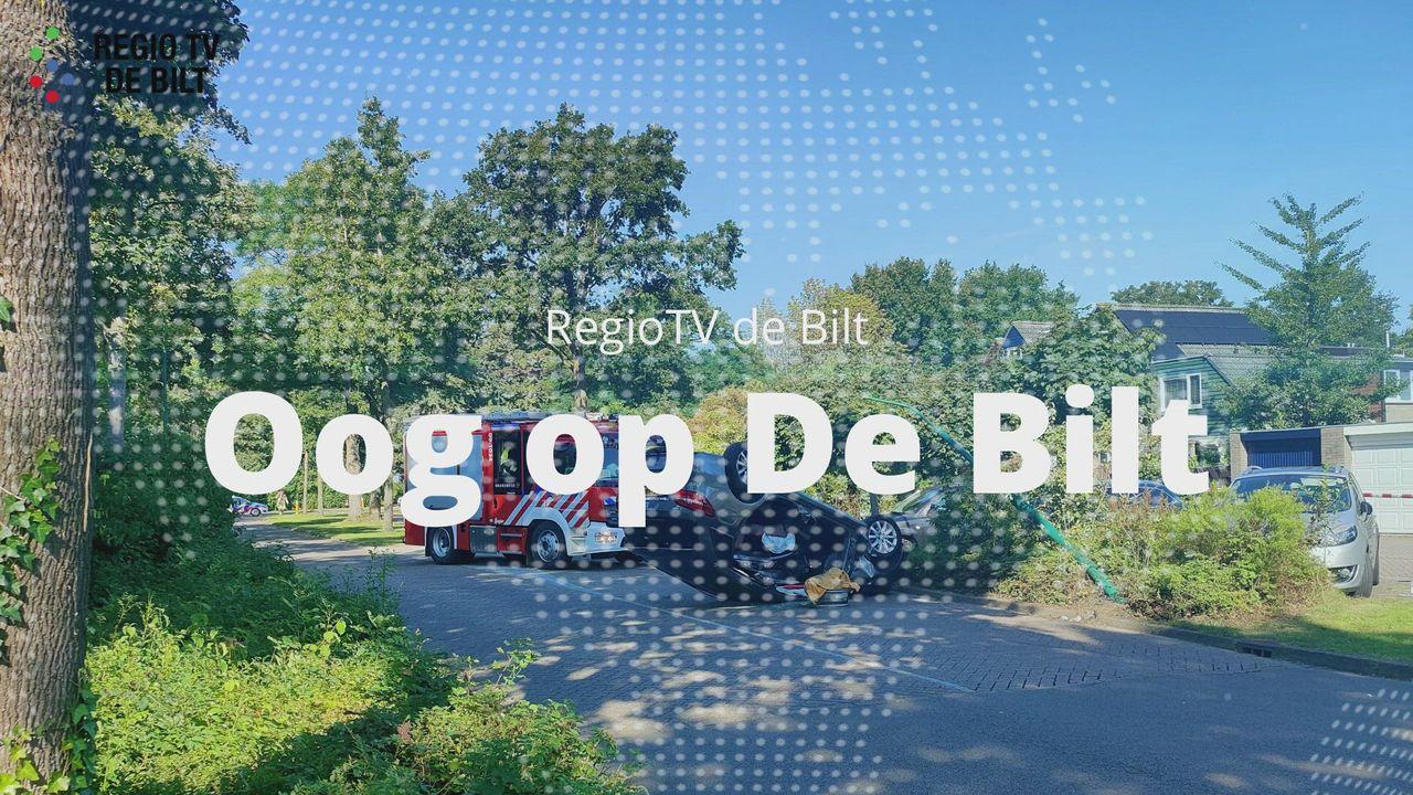 Oog op De Bilt - Auto over de kop in Maartensdijk