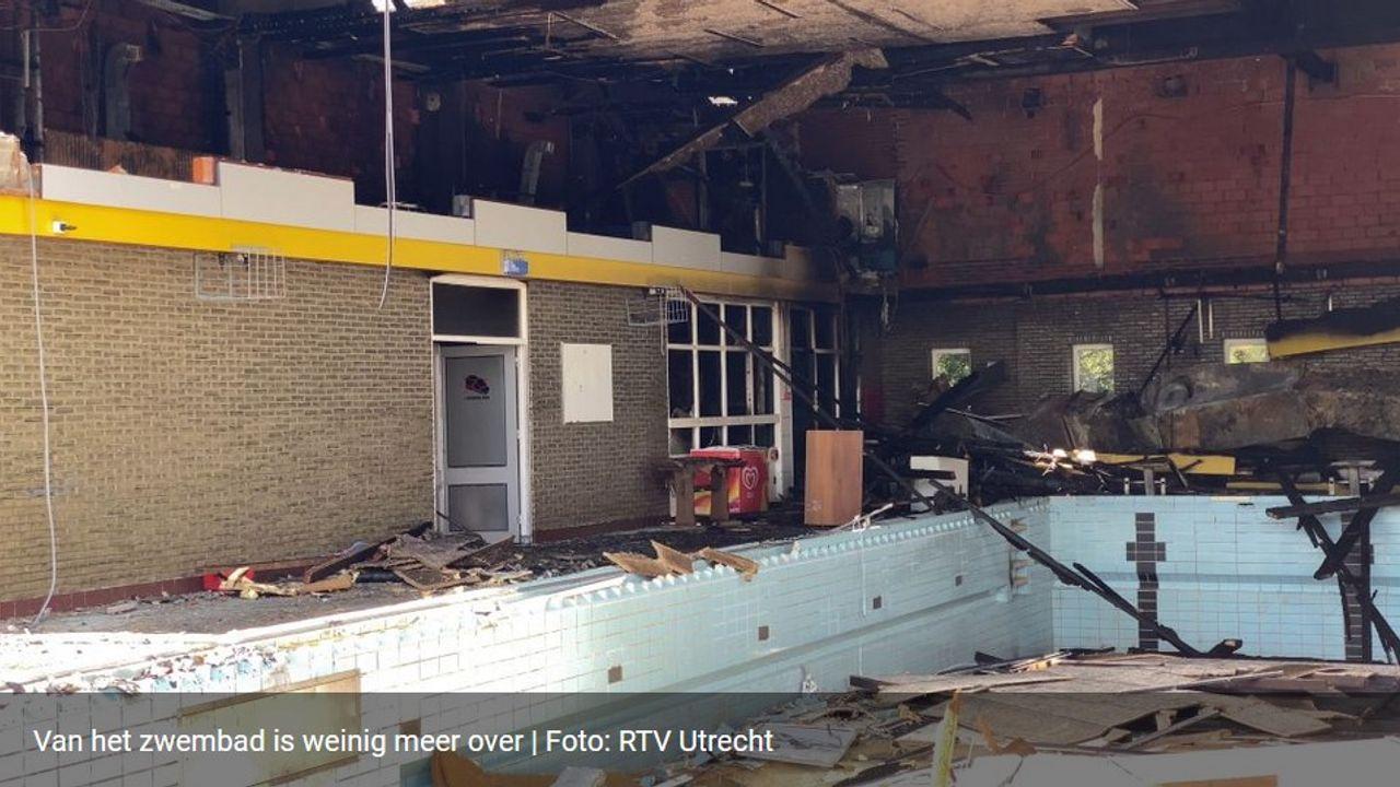 Politie gaat uit van brandstichting bij zwembad Brandenburg